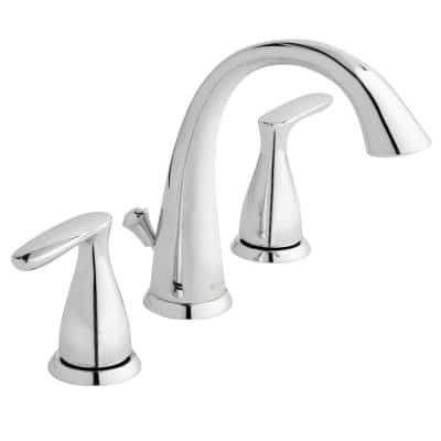 Meansville 8 in. Widespread 2-Handle High-Arc Bathroom Faucet in Chrome