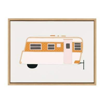 Sylvie Adventure Ahead 24 in. x 18 in. by Alicia Schultz Framed Canvas Wall Art