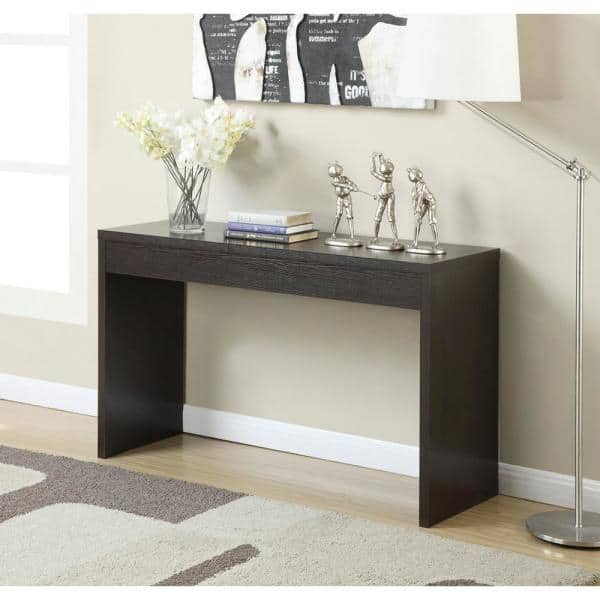 Convenience Concepts Northfield 48 In Espresso Rectangle Wood Console Table 111091 The Home Depot