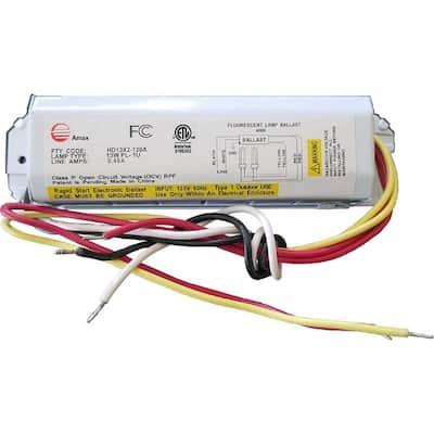 120-Volt 6.63 in. Electronic Ballast 2-PL 13-Watt Lamps