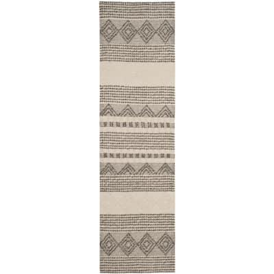 Natura Gray/Ivory 2 ft. x 20 ft. Geometric Runner Rug