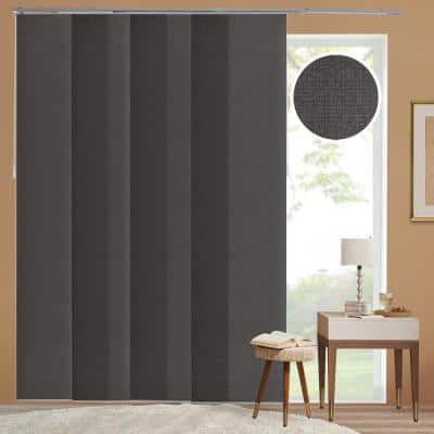 Ballroom Cut-to-Size Grey Light Filtering Adjustable Sliding Panel Track Blind with 23 in Slats Up to 86 in.W x 96 in.L