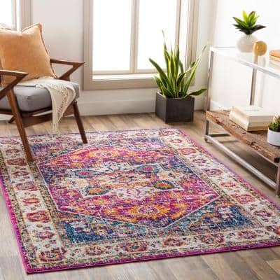 Claudine Purple 9 ft. x 12 ft. 3 in. Medallion Area Rug