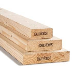 2 in. x 6 in. x 10 ft. #2/BTR KD-HT Prime Whitewood Lumber