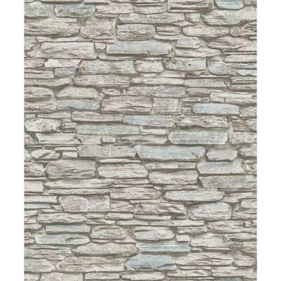 Kamen Brown Stone Brown Wallpaper Sample