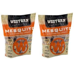 Premium BBQ 1.3 cu. ft. Mesquite Flavor Wood Cooking Chunks (2-Pack)