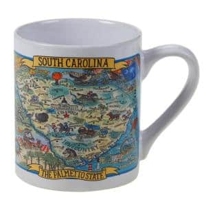 South Carolina Souvenir 20 oz. Multicolored Stoneware Jumbo Mug (Set of 6)