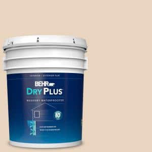 Behr 5 Gal N280 2 Writers Parchment Flat Interior Exterior Dry Plus Masonry Waterproofer 87505 The Home Depot