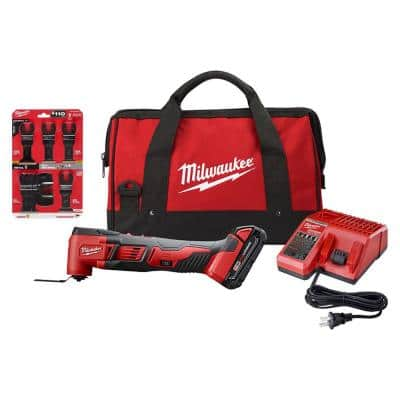 Milwaukee M18 18V Lithium-Ion Cordless Oscillating Multi-Tool Kit with Multi-Tool Blade Kit (7-Piece)