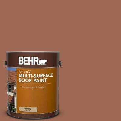 1 gal. #S180-6 Perfect Penny Flat Multi-Surface Exterior Roof Paint