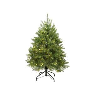 4 ft. Pre-Lit Northern Pine Full Artificial Christmas Tree with Warm Clear LED Lights