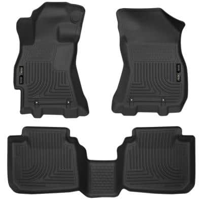 Front & 2nd Seat Floor Liners Fits 15-18 Legacy/Outback