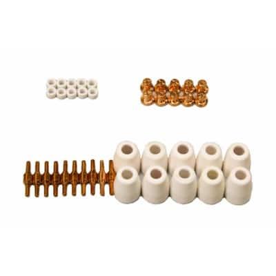 LCON40 40 Pieces Plasma Cutter Consumables for Red color LT5000D, CT520D, Lotos LT3200 & Brown color LT3500
