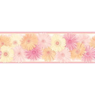 Becca Pink Daisy Chain Pink Wallpaper Border