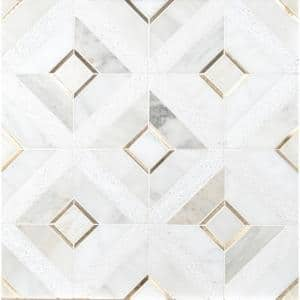 Verona Gold Pattern 11.85 in. x 11.85 in. x 8mm Multi-Surface Mesh-Mounted Mosaic Tile (9.8 sq. ft./Case)