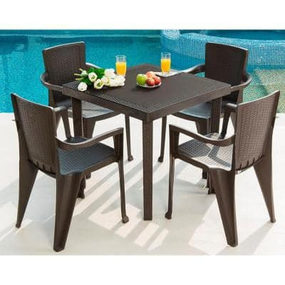 Plastic Lawn Table And Chairs Off 55, Outdoor Plastic Patio Furniture
