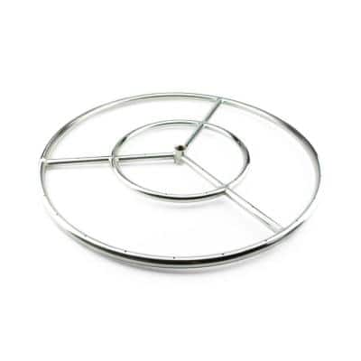 24 in. Stainless Steel Fire Ring Burner