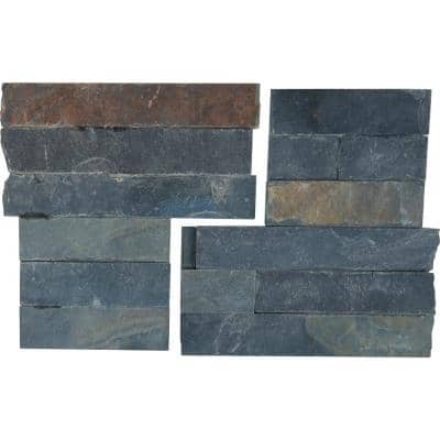 Salvador Multi 6 in. x 6 in. Textured Quartz Natural Slate Wall Tile (6 sq. ft./Case)