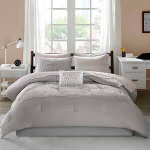 Devynn 9-Piece Grey Queen Comforter Set