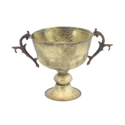 Farmhouse 19 in. x 11 in. Rusted Gold Trophy Planter