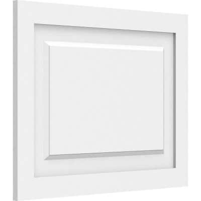 5/8 in. x 24 in. x 18 in. Harrison Raised Panel White PVC Decorative Wall Panel