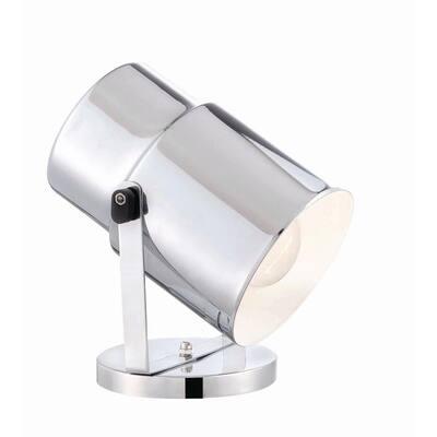 5.75 in. 1-Light Chrome Multi-Purpose Table Lamp