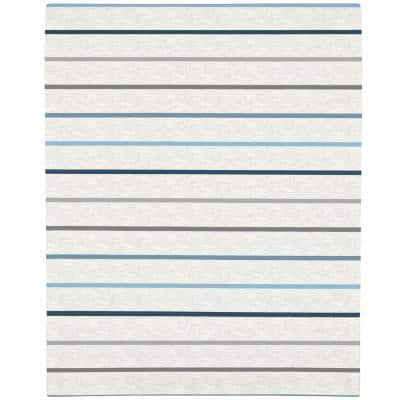 Multicolored Heather Stripe Super Soft Fitted Polyester Crib Sheet