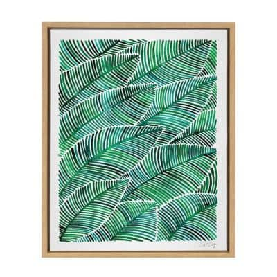 """Sylvie """"Tropical Leaves"""" by Cat Coquillette Framed Canvas Wall Art"""