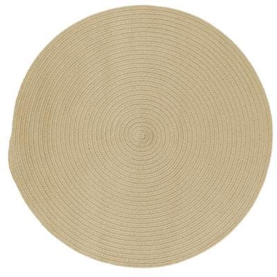 Trends Linen 8 ft. x 8 ft. Round Braided Area Rug