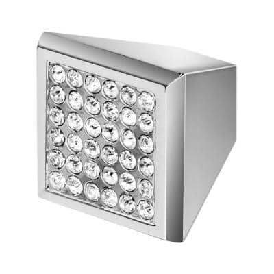 Marilyn 1 in. Chrome with Clear Crystal Cabinet Knob
