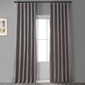 Mink Solid Rod Pocket Room Darkening Curtain - 50 in. W x 96 in. L