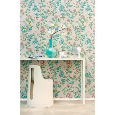 Willem Beige Painted Garden Wallpaper