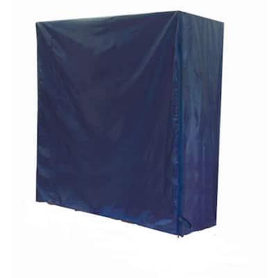 72 in. W x 60 in. H x 24 in. L  Blue Nylon Nesting Z Garment Rack Cover