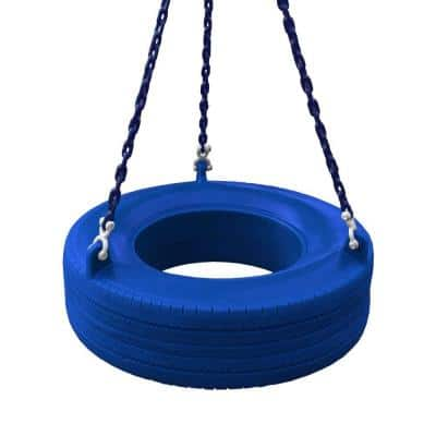 Blue 360° Turbo Tire Swing