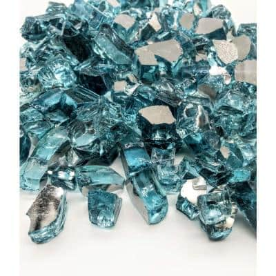 Azuria 10 lbs. 1/2 in. Reflective Fire Glass