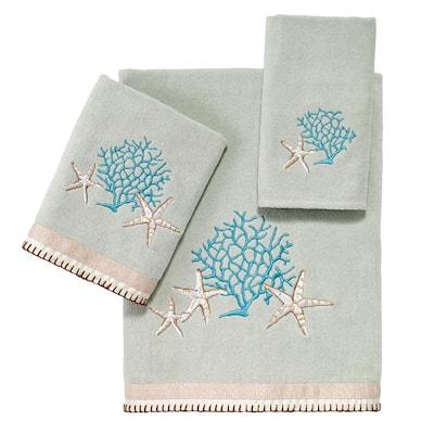 3-Piece Seafoam Beachcomber Cotton Towel Set