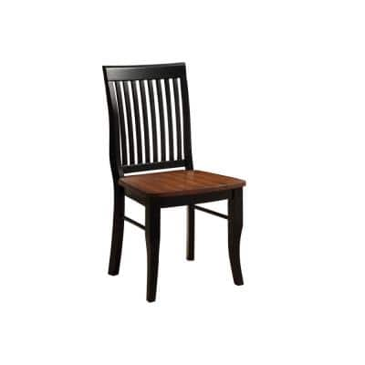 Slat Back Dining Chairs Kitchen Dining Room Furniture The Home Depot