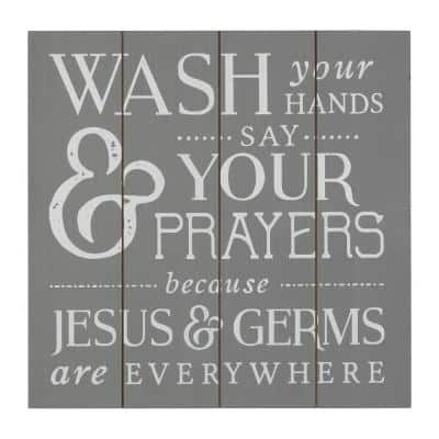 Jesus and Germs Bathroom Wall Art