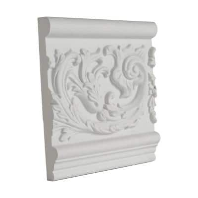 7-1/16 in. x 1 in. x 6 in. Long Floral Scroll Polyurethane Frieze Panel Moulding Sample