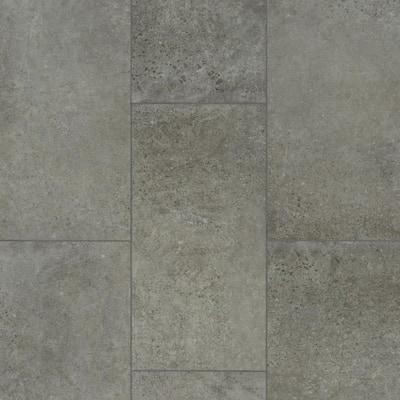 Take Home Sample - Vista Atlantic Grey Luxury Vinyl Tile Flooring - 5 in. W x 7 in. L