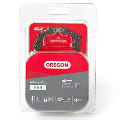 AdvanceCut Saw Chain 18 in. 0.050-Gauge 3/8 in. Low Profile Pitch Chainsaw Chain, 63 Drive Links