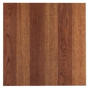 Sterling Medium Oak Plank 12 in. x 12 in. Peel and Stick Vinyl Tile (20 sq. ft. / case)