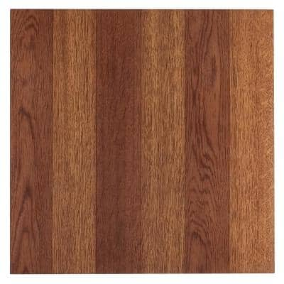 Sterling Medium Oak Plank 12 in. x 12 in. Peel and Stick Vinyl Tile (45 sq. ft. / case)