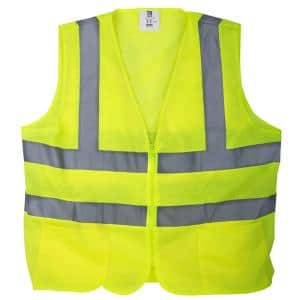 Extra-Large Yellow Mesh High Visibility Reflective Class 2 Safety Vest