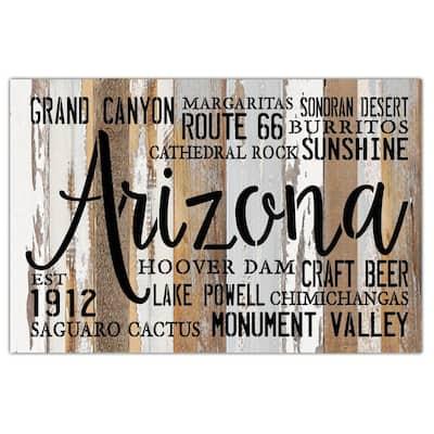 """Arizona Est 1912"" Reclaimed Wood Decorative Sign"