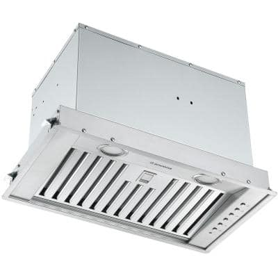 Inserta Euro 24 in. 650 CFM Ducted Insert Range Hood with Night Light Feature