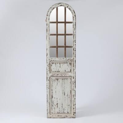 Oversized Arch White Modern Mirror (70.9 in. H x 17.7 in. W)