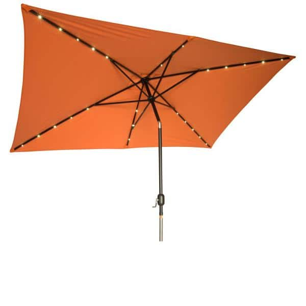 Vintage See Thru Orange Trim Umbrella