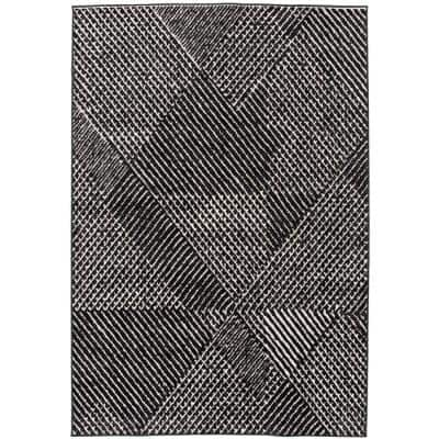 Whitaker Charcoal 5 ft. x 7 ft. Abstract Area Rug