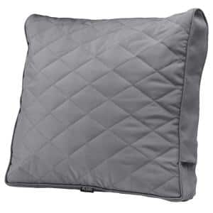 Montlake FadeSafe 25 in. x 22 in. x 4 in. Grey Rectangular Patio Chair/Loveseat Back Quilted Cushion